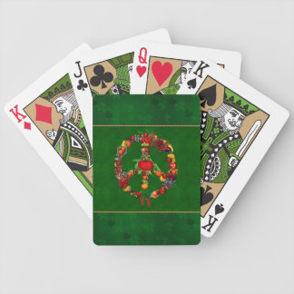 Veggie Peace Sign Bicycle Playing Cards
