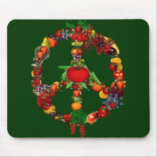 Veggie Peace Sign Mouse Pad