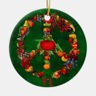 Veggie Peace Sign Christmas Tree Ornaments