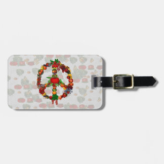 Veggie Peace Sign Tag For Luggage