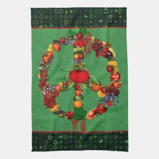 Veggie Peace Sign Towel