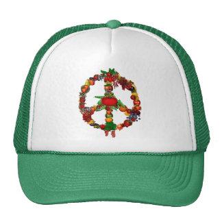Veggie Peace Sign Trucker Hats