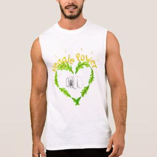 Veggie Power Ärmlös T-Shirt, Mr., white Sleeveless Shirt