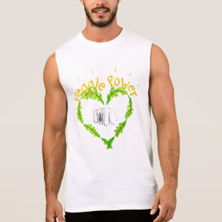 Veggie Power Ärmlös T-Shirt, Mr., white Sleeveless T-shirt