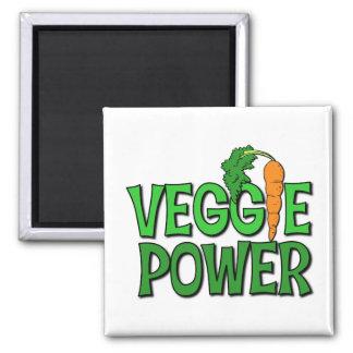 Veggie Power Gift 2 Inch Square Magnet