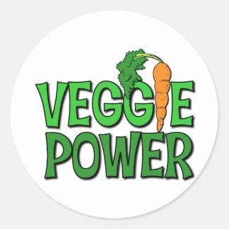 Veggie Power Gift Classic Round Sticker