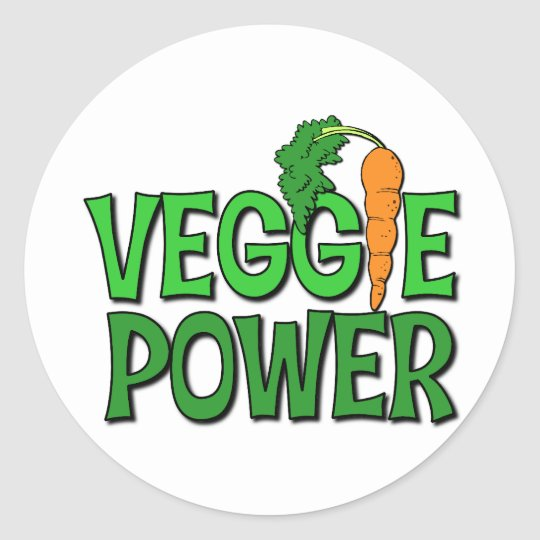 Veggie Power Gift Classic Round Sticker