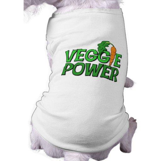 Veggie Power Gift Dog Tshirt