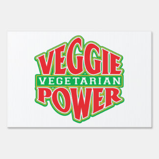 Veggie Power Lawn Sign