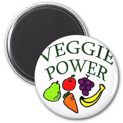 Veggie Power Refrigerator Magnets
