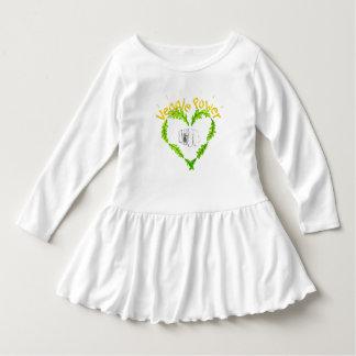 Veggie Power Toddler Ruffle Dress