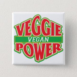 Veggie Power Vegan Pinback Button