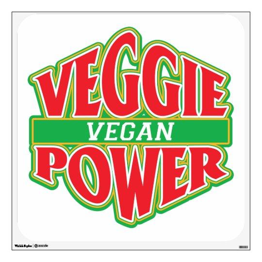 Veggie Power Vegan Wall Decal