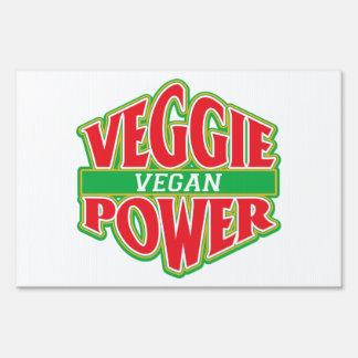 Veggie Power Vegan Yard Sign