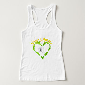 Veggie Power Women ' s Slim Fit Racerback Tank Top
