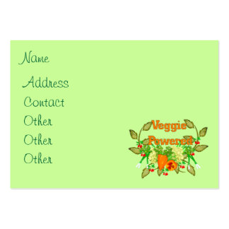 Veggie Powered Large Business Cards (Pack Of 100)