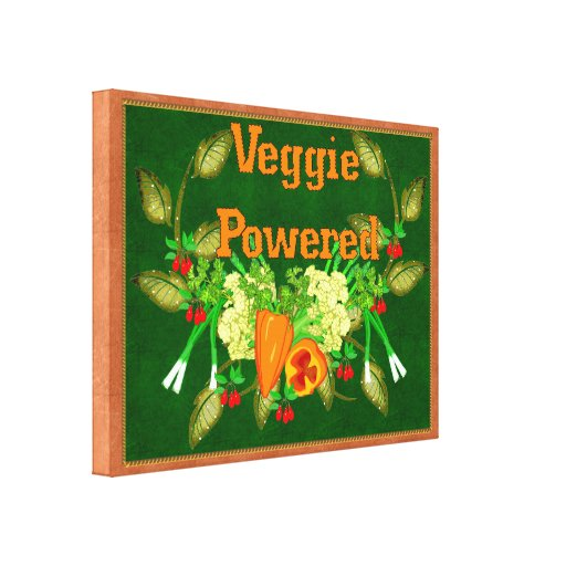 Veggie Powered Gallery Wrapped Canvas