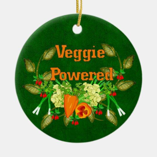 Veggie Powered Ceramic Ornament
