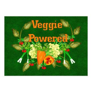 Veggie Powered Personalized Invitations