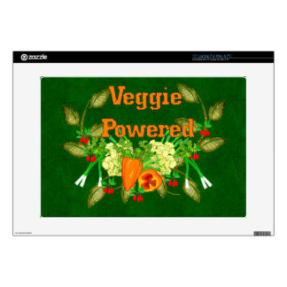 Veggie Powered Laptop Decal