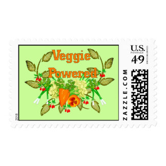 Veggie Powered Postage Stamps