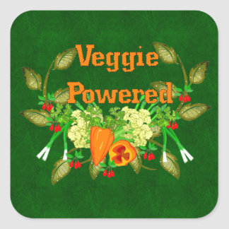 Veggie Powered Square Sticker