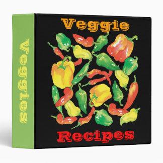 Veggie Recipes binder