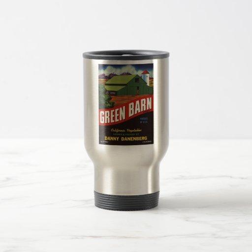 Veggie retro viejo de la etiqueta de las taza de viaje de acero inoxidable