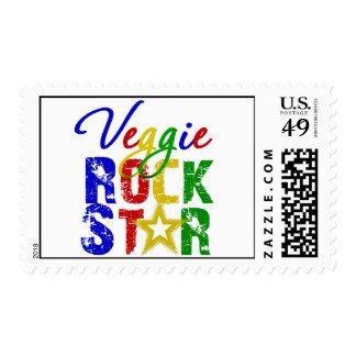 Veggie Rock Star 2 Postage Stamp