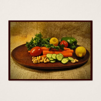 Veggie Salad Plate ATC Business Card
