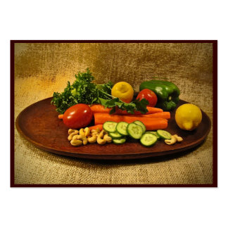 Veggie Salad Plate ATC Large Business Cards (Pack Of 100)