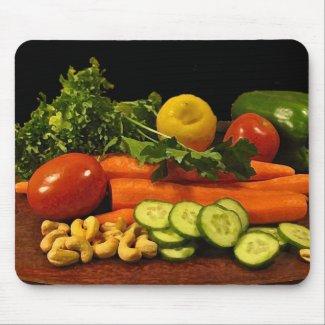 Veggie Salad Plate Mousepad
