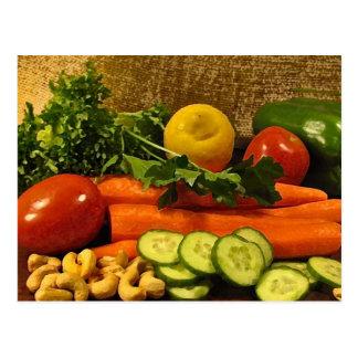Veggie Salad Plate Postcard