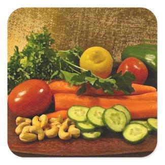 Veggie Salad Plate sticker