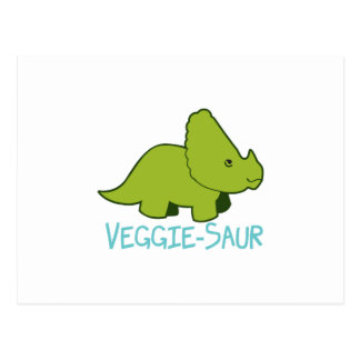 Veggie-Saur Tarjetas Postales