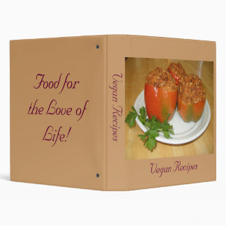 Veggie stuffed peppers,  Vegan Recipes, Food fo... 3 Ring Binder