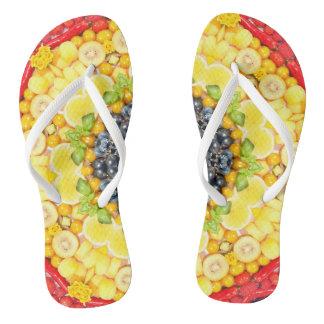 Veggie sunshine flip flops