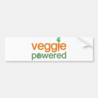 Veggie Vegetable Powered Vegetarian Car Bumper Sticker