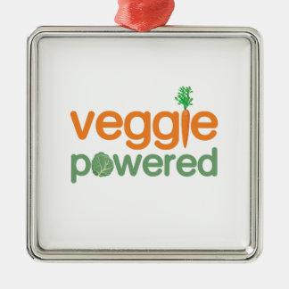Veggie Vegetable Powered Vegetarian Metal Ornament