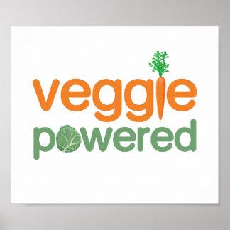 Veggie Vegetable Powered Vegetarian Poster