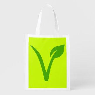 veggie,vegetarian,vegan ,symbol reusable grocery bag