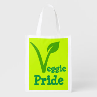 veggie,vegetarian,vegan ,symbol,VEGGIE PRIDE Reusable Grocery Bag