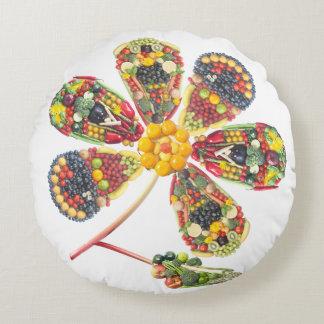 VeggieArt PowerFlower Round Pillow
