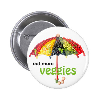 VeggieArt umbrella Pinback Button