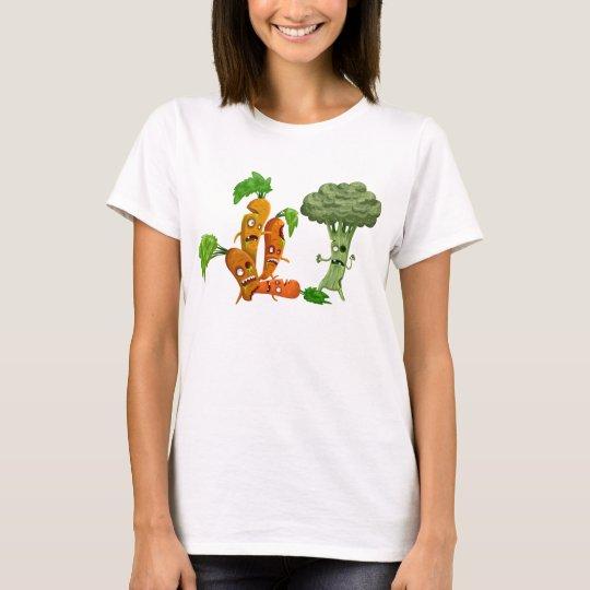veggience - bro vs carrotz T-Shirt