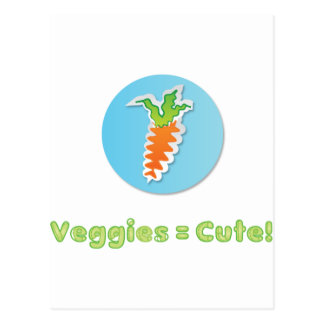 veggies-are-cute post card