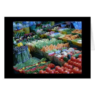 Veggies At Atwater Market Card