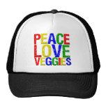 Veggies del amor de la paz gorro de camionero