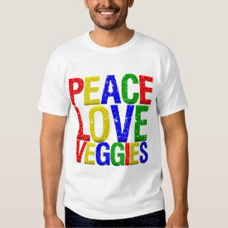 Veggies del amor de la paz polera