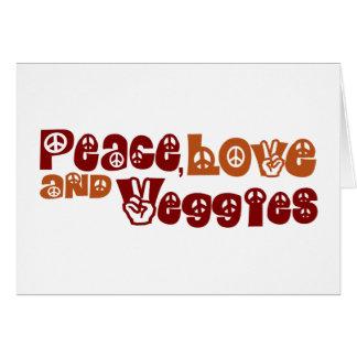 Veggies del amor de la paz tarjeta de felicitación